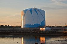 A Liquefied Natural Gas Storage Tank In Machusetts