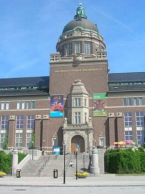 Axel Anderberg - Main entrance of the Swedish Museum of Natural History.