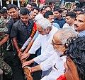 Naveen Patnaik pulling Nandighosha Ratha of Jagannath in Puri, Odisha.jpg