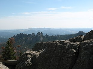 The Needles from Harney Peak in Black Hills National Forest