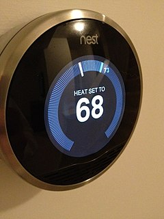 Smart thermostat a thermostat that can be used with home automation and is responsible for controlling a homes heating and/or air conditioning