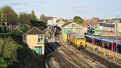 Network Rail 57312 at Swanage Railway Station (7225273698).jpg