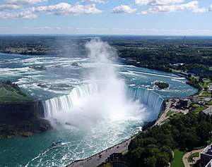 English: Niagara Falls: Horseshoe Falls view. ...