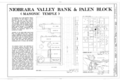 Niobrara Valley Bank, Fifth Avenue and Maple Street, Niobrara, Knox County, NE HABS NEB,54-NIOB,7- (sheet 1 of 5).png