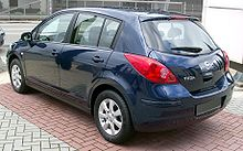 Nissan Tiida blue rear 20080301.jpg
