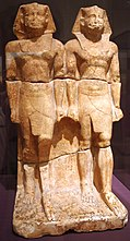 Statue of Nyuserre Ini in his youth and old age