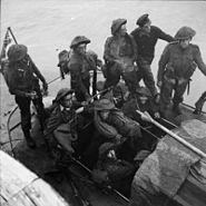 No. 3 Commando men after Dieppe raid