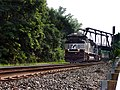 Norfolk Southern Railway SD70M-2 2700 leads train 21M through Easton PA July 2006.jpg