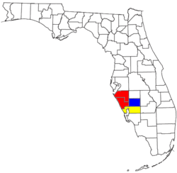 Map of Sarasota metropolitan area