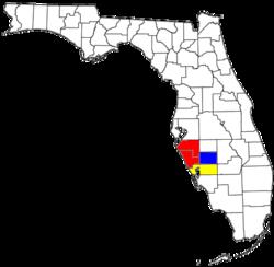 Map of Sarasota metropolitan area