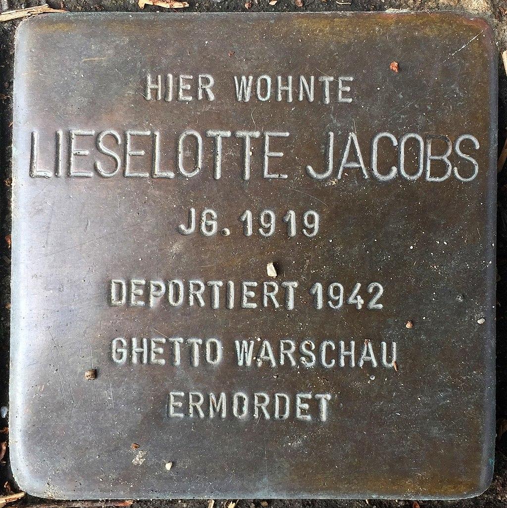 Northeim Stolperstein Lieselotte Jacobs.jpg