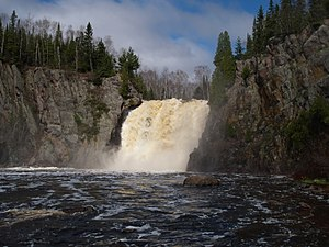 Baptism River - High Falls on the Baptism River, Tettegouche State Park