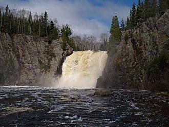 Baptism River - High Falls on the Baptism River, Tettegouche State Park