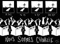 Nous sommes Charlie, par Marine des Mazery - Les étudiants du CESAN rendent hommage.jpg