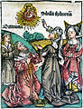 Nuremberg Chronicle - Tiburtine Sibyl (XCIIIv) edit.jpg