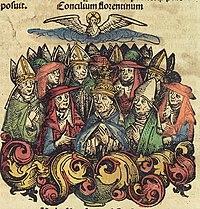 Neurenberg kronieken f 244v 2 Concilium florentinum.jpg