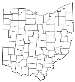Location of Lowellville, Ohio