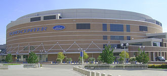 Seattle SuperSonics relocation to Oklahoma City - Chesapeake Energy Arena (then known as the Ford Center), which seats 18,203 for basketball, was completed in 2002, and has received public funding for renovation.