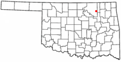 Location of Avant, Oklahoma