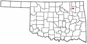Oologah, Oklahoma - Image: OK Map doton Oologah