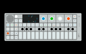 Hardware interface design - The Teenage Engineering OP-1 combines a mixture of hardware buttons, knobs, and a color-coded OLED display.