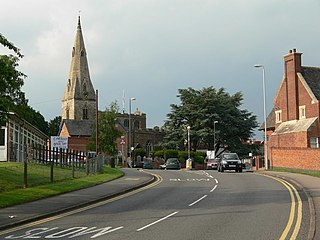 Oadby Town in Leicestershire, England