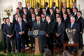 Sporting Kansas City - President Barack Obama honoring the team and their victory in MLS Cup 2013, in the East Room of the White House