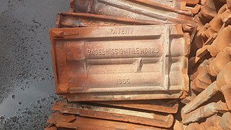 Mangalore tiles - Old Manglore tiles, from an old site in Karachi, Pakistan.