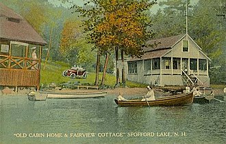Chesterfield, New Hampshire - Image: Old Cabin Home & Fairview Cottage