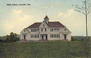 Cornish, Maine - Old High School in 1915