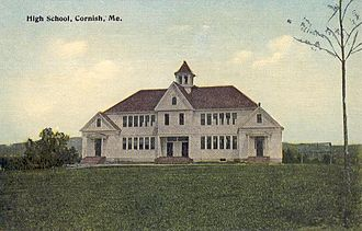 Cornish, Maine - Old High School in 1915