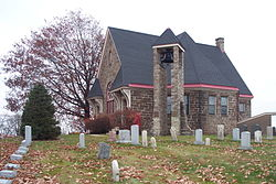 The Old Stone Church, now overseen by the Monroeville Historical Society