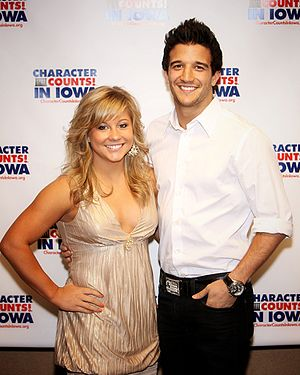 Shawn Johnson East - Shawn Johnson and her DWTS partner Mark Ballas