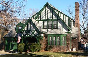 Country Club Historic District (Omaha, Nebraska) - Tudor Revival house in district