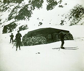 "Research stations in Antarctica - ""Omond House"", the first permanent base, built in 1903 by the Scottish National Antarctic Expedition"