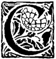 Oncial - Le trésor des équivoques, antistrophes, ou contrepéteries, 1909 - Lettrine-C.png