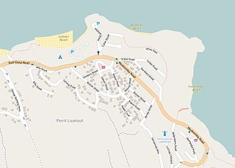 Point Lookout, Queensland - Map of Point Lookout, 2015