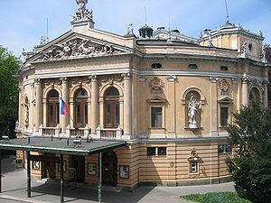 Ljubljana Opera House seen from a side balcony...
