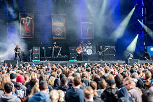 Opeth na festivalu Wacken Open Air 2015. godine.