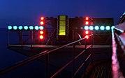 Optical Landing System, night, aboard USS Dwight D. Eisenhower (CVN-69)