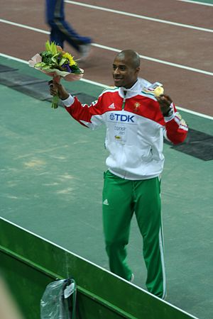 2003 European Athletics Junior Championships - Nelson Évora completed a long jump/triple jump double