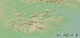 Ouachita orogeny - The Ouachita Mountains lie south of the Arkansas River valley which separates them from the Ozark plateau.
