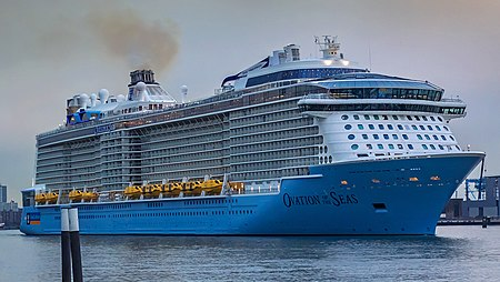 Ovation of the Seas - Nieuwe Maas - Port of Rotterdam (26175354380) (cropped).jpg