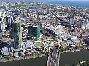 Crown Melbourne - Aerial view of the complex from the north