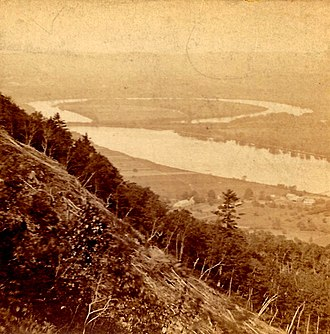 The Oxbow (Connecticut River) - Image: Oxbow Northampton c 1870