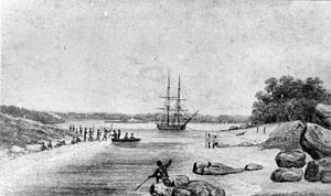 King George Sound (Western Australia) - Phillip Parker King's 1818 sketch of Oyster Harbour