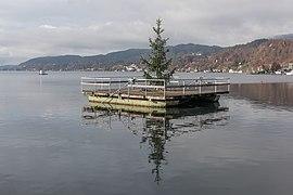 Pörtschach Johannes-Brahms-Promenade W-Bucht Weihnachtsbaum 20112020 0175.jpg