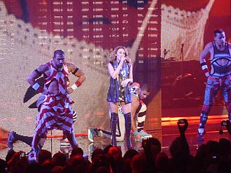 Spinning Around - Minogue and her dancers performing the track during her 2009 North American For You, For Me tour.