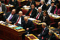 PASOK MPs in the Greek parliament during 2009 budget discussion.jpg