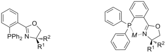 Phosphinooxazolines - Chiral phosphinooxazoline (PHOX) in its free and coordinated forms